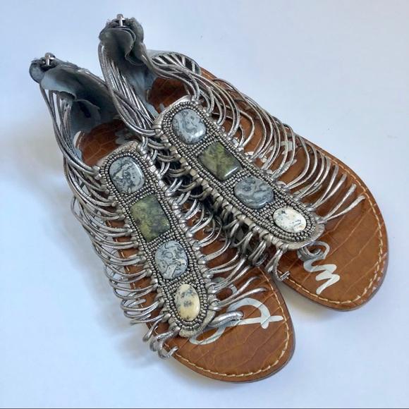 94c5c3c716027f Sam Edelman Hazel Silver Gladiator Sandals 8. M 5bd9a087de6f62a9bbb0f8b0